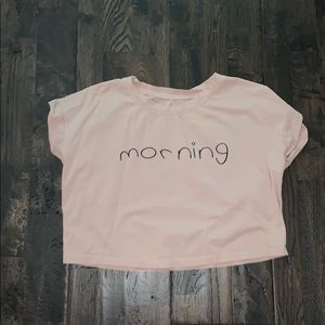 cropped morning tee!!